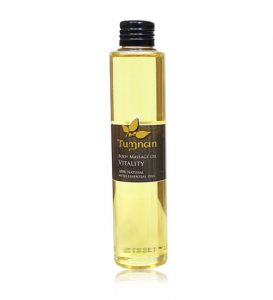 "BODY MASSAGE OIL ""VITALITY"" 100% NATURAL WITH ESSENTIAL OIL 150 ML 330 THB"